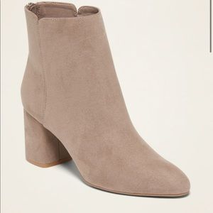Faux Suede Ankle Boot Size 6